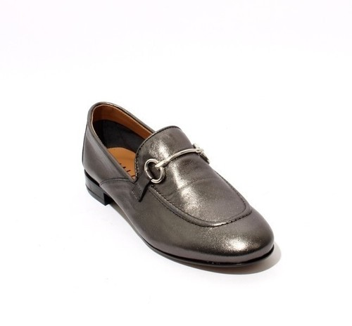 Metallic Leather / Buckle / Loafer Flats