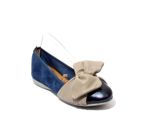 Multi-Color Soft Leather Suede Comfortable Bow Ballet Flat