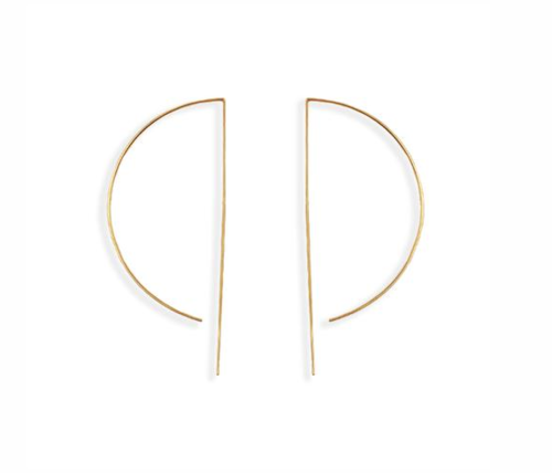 D Wire Hoop 24K Plated