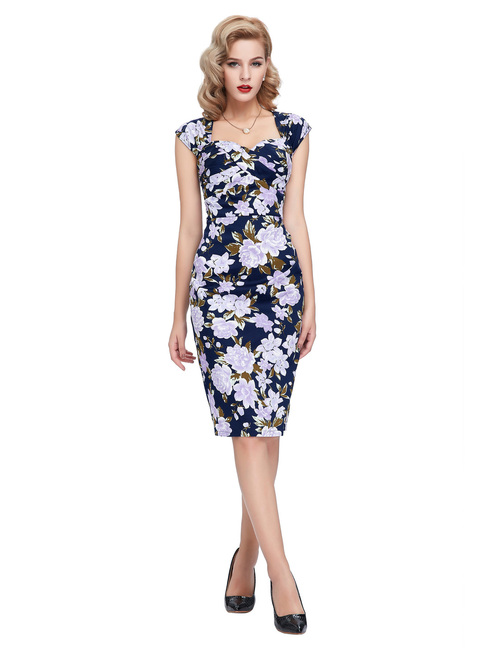 Margot Dress in purple floral