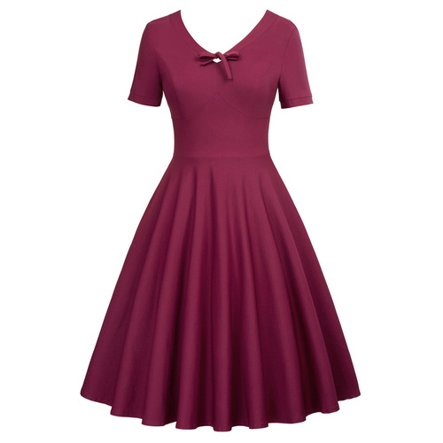 Virginia Dress in Wine or Black