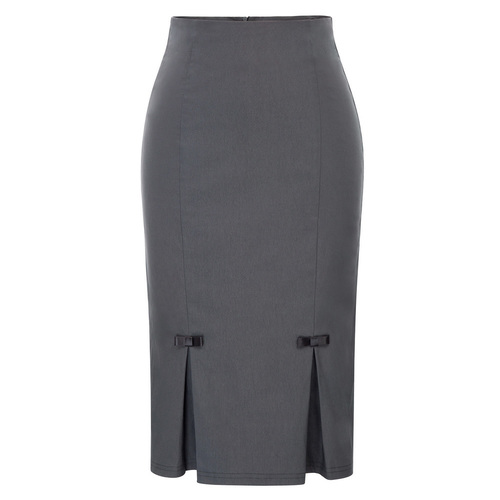 Irene Pencil Skirt in Grey or Black