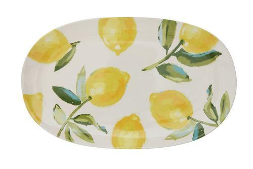 Stoneware Platter w/ Lemons