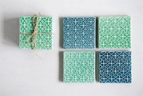"4"" Stoneware Coasters"