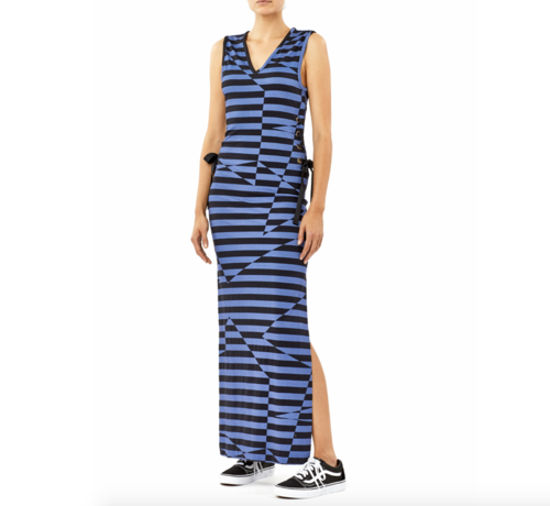 Illusion Stipe Maxi Dress
