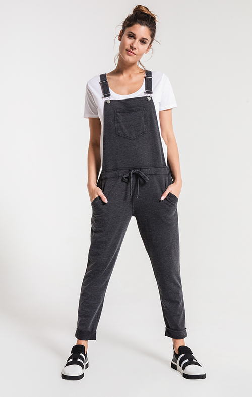 Black Knit Overalls
