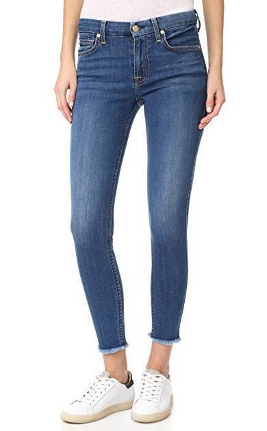 Raw Hem Ankle Skinny New Luxe Reign