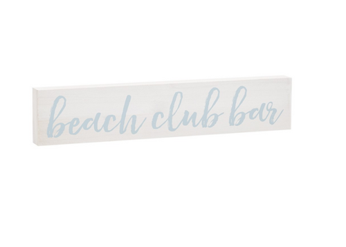 Beach Club Vintage Sign