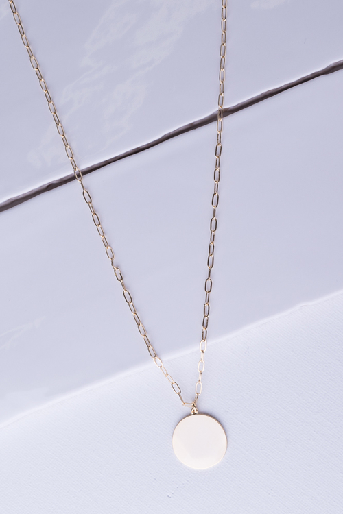 Loop Chain Medallion Necklace