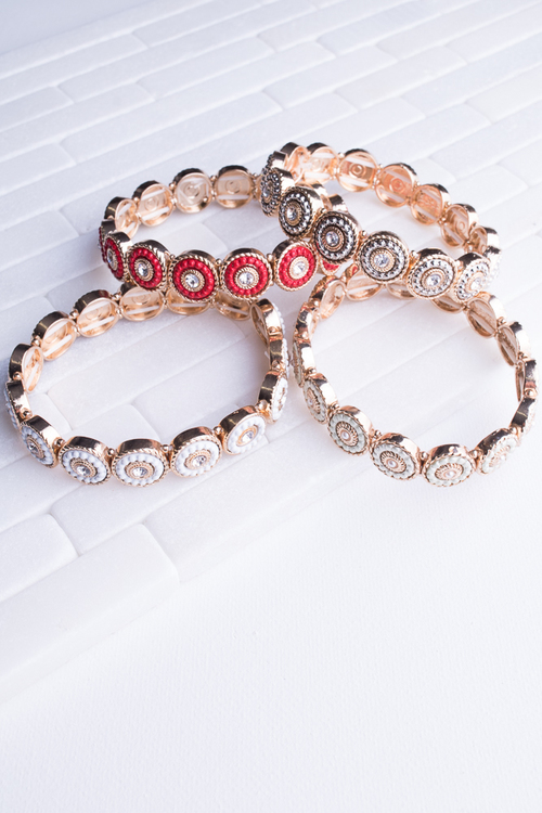 Colored Circle Stretch Bracelet