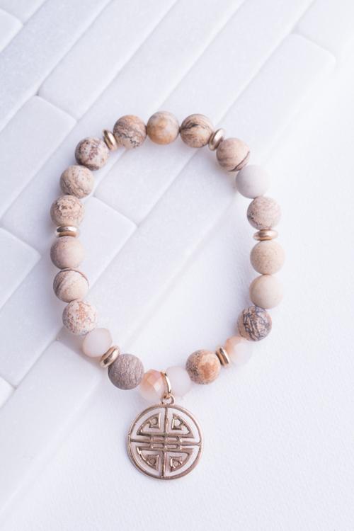 Natural Bead Grecian Coin
