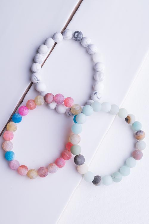 Stone Bead Stretch Bracelet
