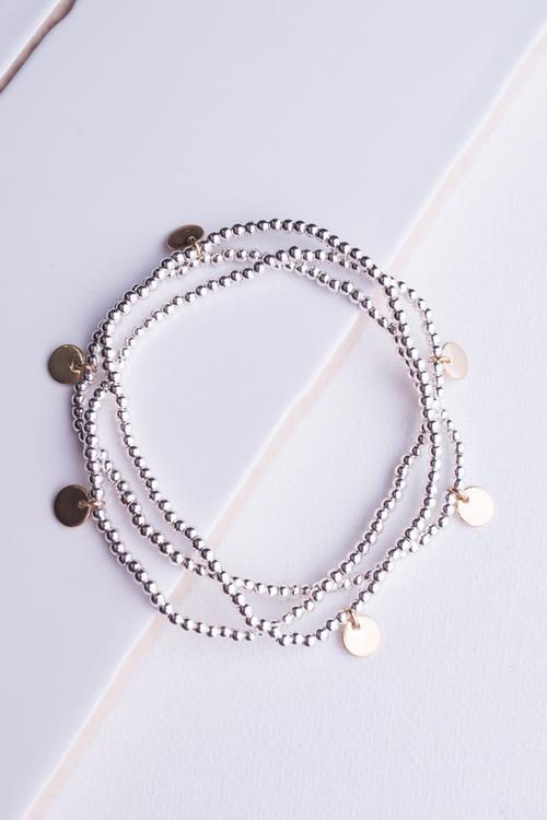 Dainty Beaded Trio Bracelet
