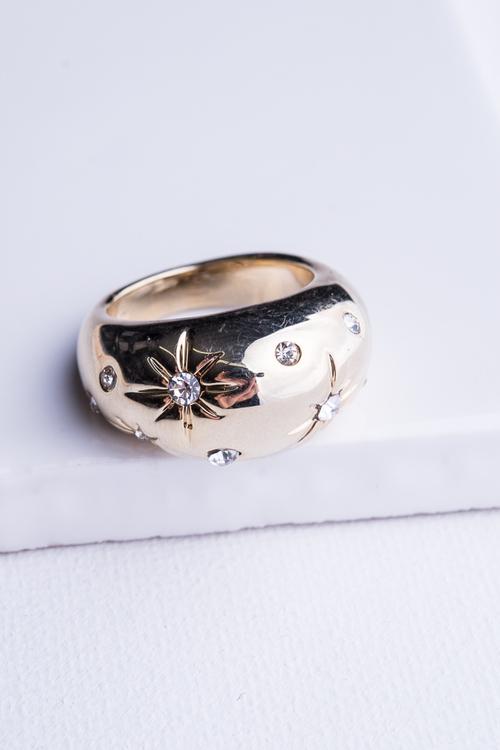 Starburst CZ Bold Ring
