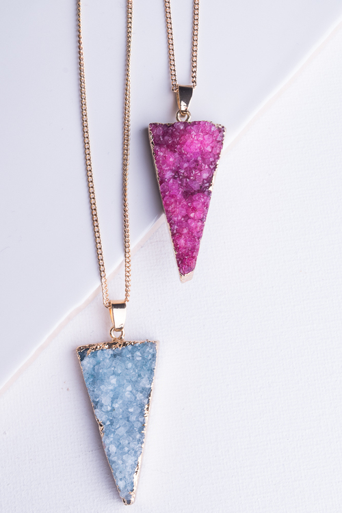 Long Triangle Durzy Necklace