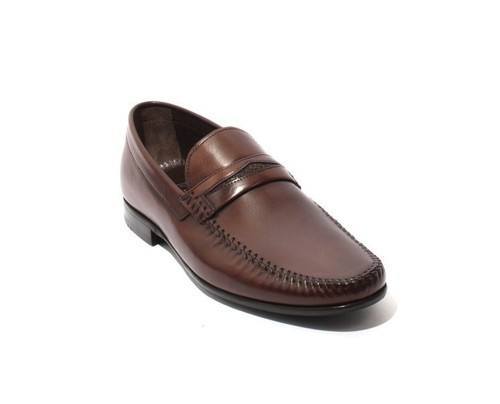 Brown Leather Loafers Shoes