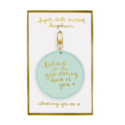 Mirror Keychain Sea Foam Believe
