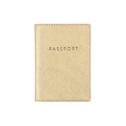 Passport Case Gold Shimmer