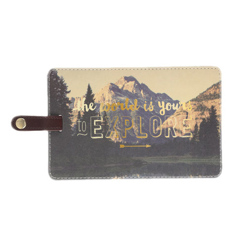 Luggage Tag Jumbo World Is Yours