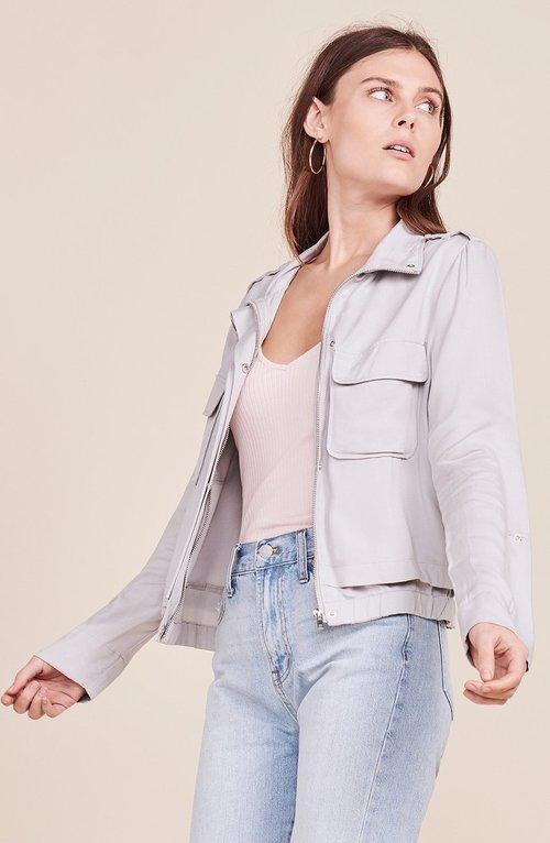 Zoey Twill Stone Grey Jacket