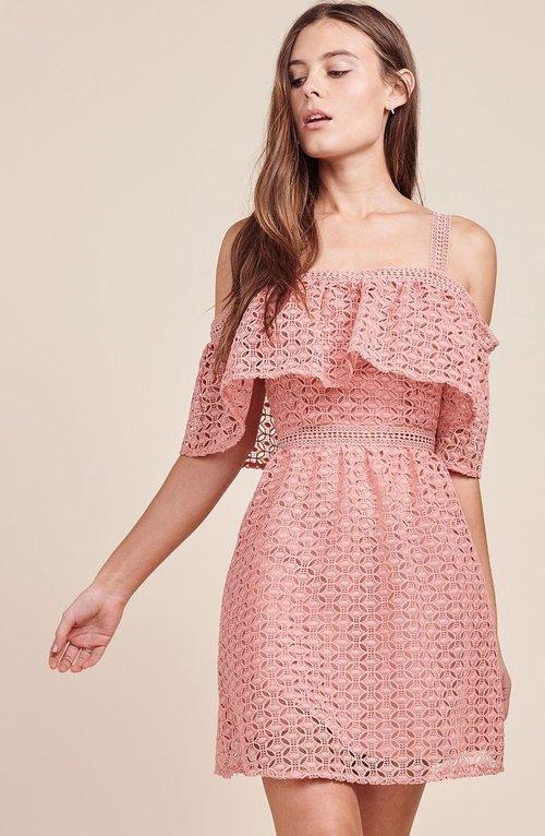 Aitana Rosette Pink Dress