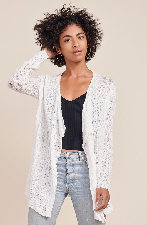 Janet Ivory Laced Cardigan