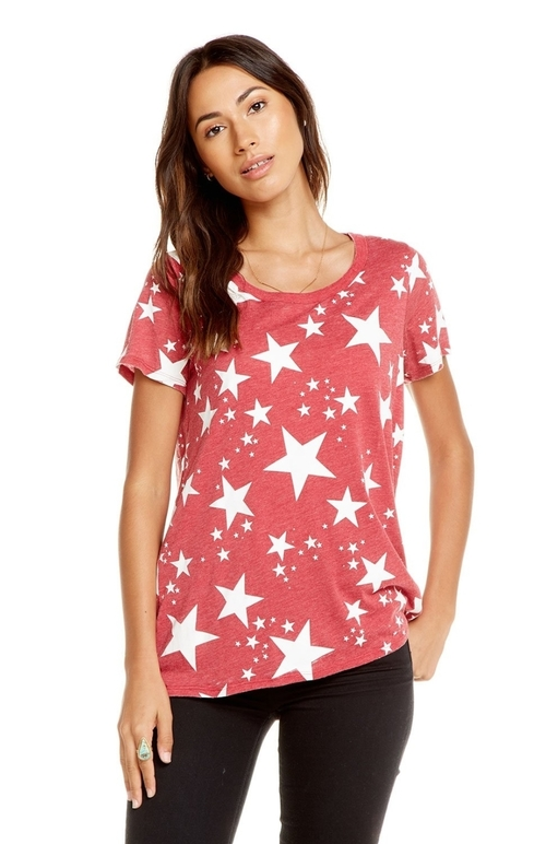Starry Night Drape Back Tee
