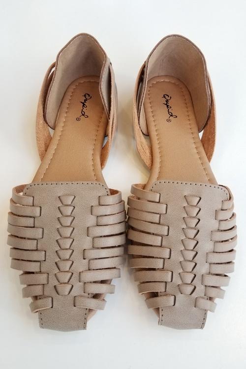 Taupe Huarache Sandal