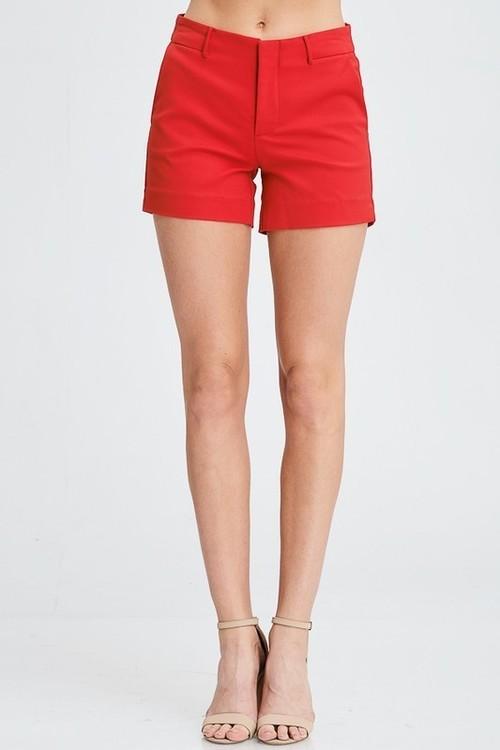 Red Chino Shorts