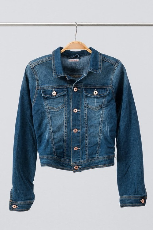 Vintage Washed Blue Denim Jacket