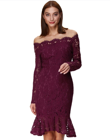 Virna Dress in Burgundy