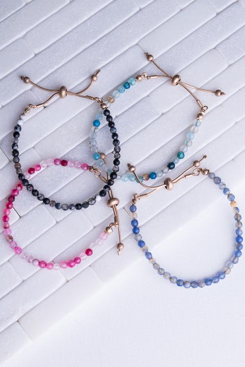 Stone Beaded Pull Bracelet