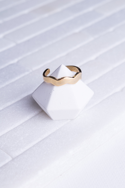 Wavy Toe Ring 14K Plated
