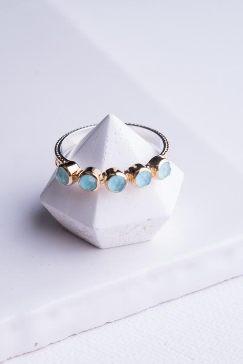 """""""Abundance"""" Multi Turquoise Stone Stack Ring"""