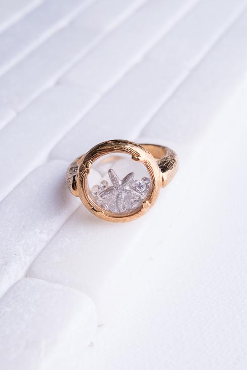 Catherine Weitzman Gold Shaker Ring