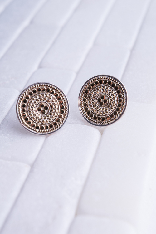 Anna Beck Signature Medallion Earring