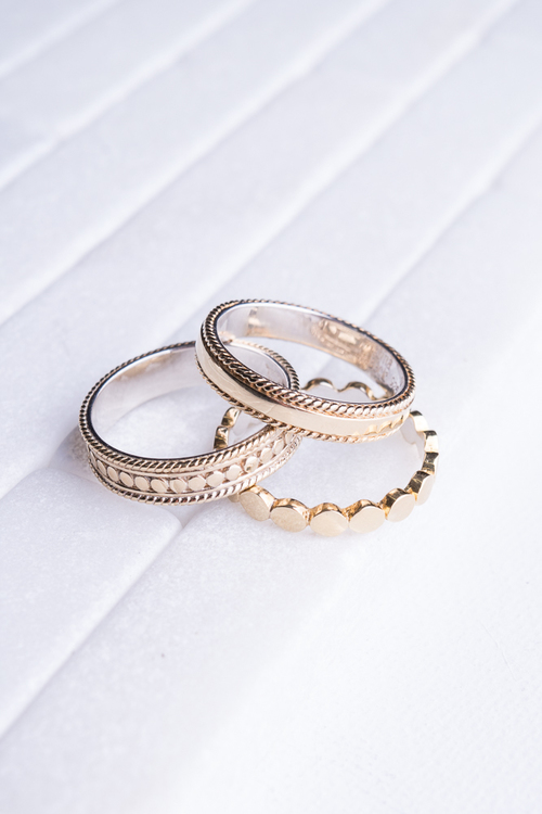 Stacking Rings- Gold Set of 3