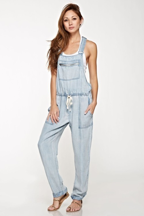 Drawstring Relaxed Tencel Overalls