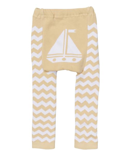 Tan Sailboat Leggings