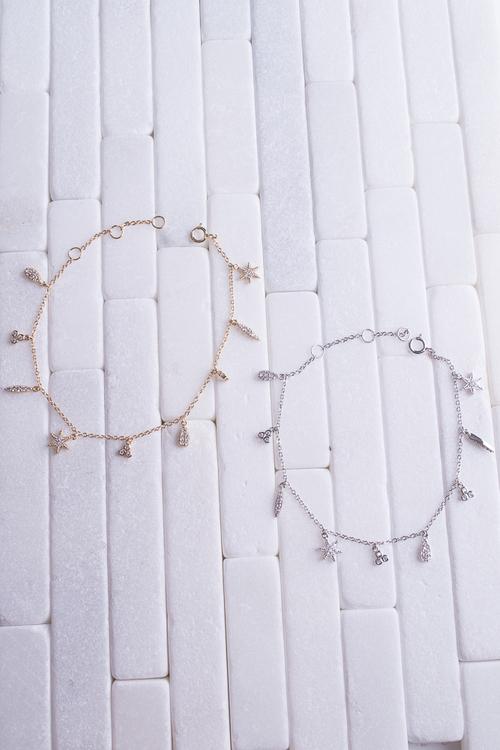 CZ Charm Bracelet