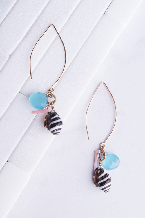 Fiji Blue Multi Drop Earring