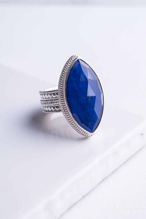 Lapis Marquise Ring