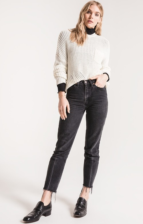 Willow Marshmallow Cable Knit Sweater White