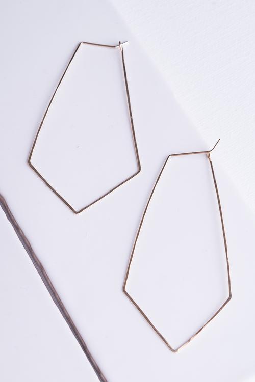 Kite Hoop Earrings Gold