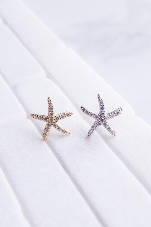 Large CZ Starfish Stud