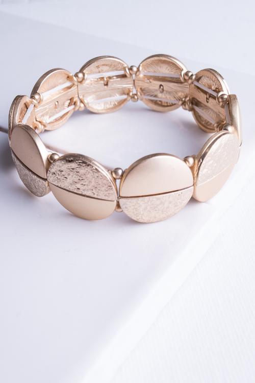 Split Disk Stretch Bracelet