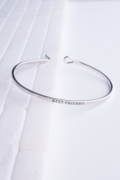 Best Friends Stamped Band Bangle