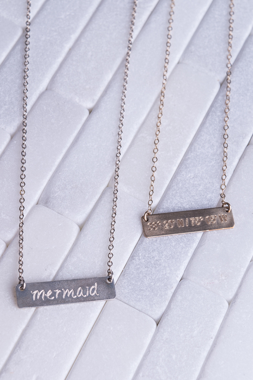 Mermaid/OC Coordinates Reversible Necklace