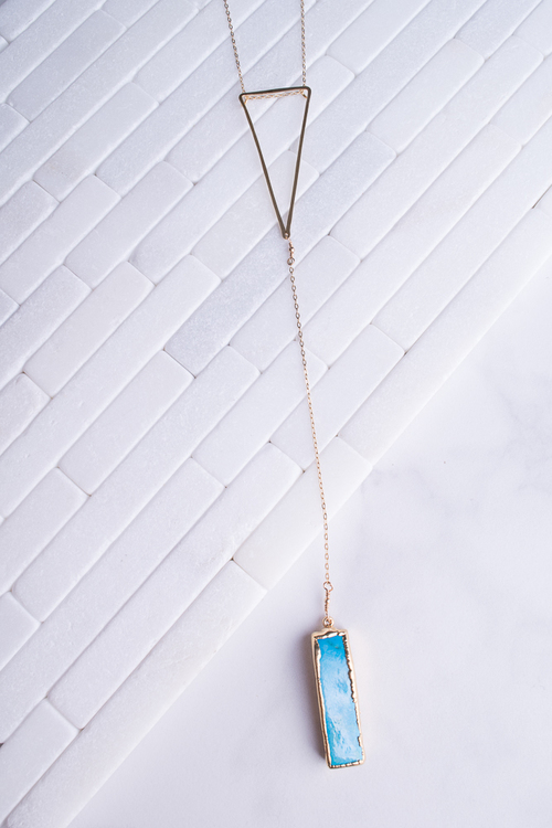 Nat. Turquoise Triangle Necklace