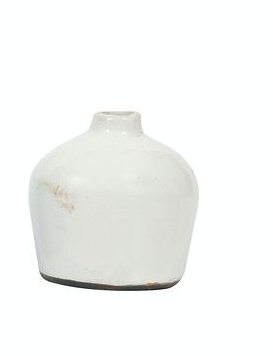 Small White Terra Cotta Vase